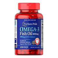 Thực Phẩm Chức Năng - Dầu Cá Bổ Sung EPA DHA Bổ Mắt, Não, Tim Mạch, Tăng Cường Hệ Miễn Dịch Puritan'S Pride Omega-3 Fish Oil 1000Mg