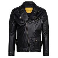 Áo khoác da nam dáng Biker Jacket FTT LEATHER mã MS BJ01BL
