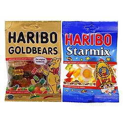 Combo Kẹo Dẻo Haribo 2: Goldbears (80g) + Star Mix (80g)