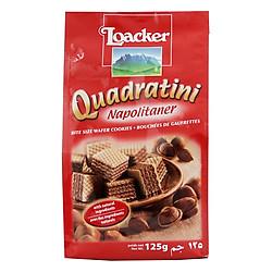 Bánh Xốp Quadratini Kem Hạt Dẻ Loacker (125g)