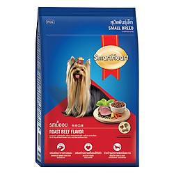 Đồ Ăn Khô Cho Chó Giống Nhỏ Trưởng Thành Hương Vị Thịt Bò Nướng SmartHeart (3kg)