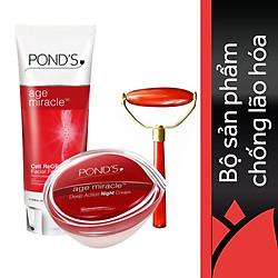 Combo Pond's Kem Age Miracle Đêm + Sữa Rửa Mặt 100g  + Cây Massage Nâng Cơ Mặt - 67136039