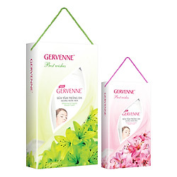 Combo Gervenne 5: Hộp Quà Sữa Tắm Trắng Da Hương Hoa Lily Xanh (900g) + Hộp Quà Sữa Tắm Trắng Da Hương Hoa Lily Hồng (450g)