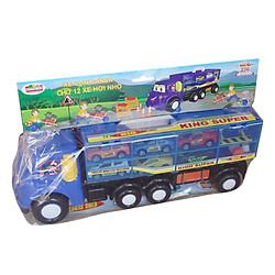 Bộ Đồ Chơi Xếp Hình 256 (L3 - Xe Container Chở 12 Xe Hơi Nhỏ) Cholo Bloc - M1450-LR