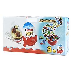 Hộp 3 Kẹo Socola Kinder Cho Bé Trai (20g / Trứng) - Xanh