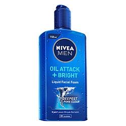 Gel Rửa Mặt Nivea Men Oil Attack + Bright (150ml)