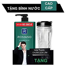Dầu Gội Romano Classic (900g) - Tặng Kèm Chai Nước Thể Thao (500ml)