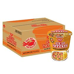 Thùng 24 Ly Mỳ Cup Noodles Hương Vị Cua Sốt Cay Singapore (71g / Ly)