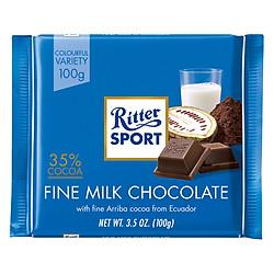 Socola Sữa 35% Cacao Ritter Sport (100g)