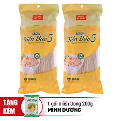 Combo 2 Gói Miến Điền Bảo 5 (400g x 2) - Tặng Kèm 1 Gói Miến Dong Minh Dương 200g