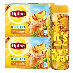 Combo 2 Hộp Lipton Ice Tea Trà Đào (224g / Hộp) - Tặng Bình Lock & Lock Giao Mẫu Ngẫu Nhiên