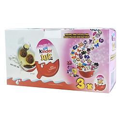 Hộp 3 Kẹo Socola Kinder Cho Bé Gái (20g / Trứng) - Hồng