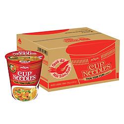 Thùng 24 Ly Mì Cup Noodles Hương Vị Tôm Yum (70g / Ly)