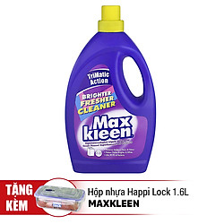 Nước Giặt Đậm Đặc Maxkleen Trắng Sáng (3Kg) - Tặng Hộp Nhựa Happi Lock (1.6L)