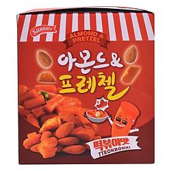 Hạnh Nhân Kèm Bánh Quy Cay Vị Tteokbokki Sunnuts Almond & Pretzel Tteokbokki (8 Gói x 30g)