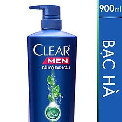 Dầu Gội Clear Men Mát Lạnh Bạc Hà 900g - 21123411