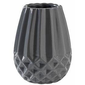 Bình Trang Trí Audun Gốm Màu Xám (8 x 11 cm) - hình màu đen