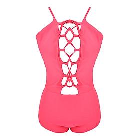 Đồ bơi đan dây hở lưng gợi cảm - Màu hồng