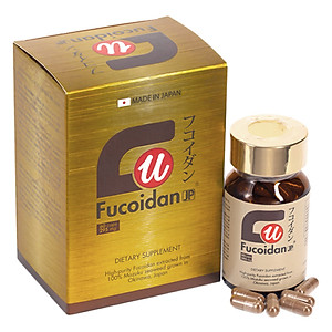 Hình đại diện sản phẩm Thực Phẩm Chức Năng Viên Nang Hỗ Trợ Điều Trị Ung Thư Fucoidan JP (Hộp 60 Viên)