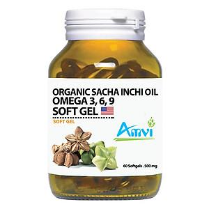 Hình đại diện sản phẩm Thực Phẩm Chức Năng Bảo Vệ Sức Khỏe Viên Nang Mềm Amvi Organic Sacha Inchi Oil Omega Soft Gel (60 Viên)