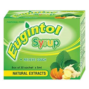 Hình đại diện sản phẩm Thực Phẩm Chức Năng Eugintol Syrup Chiết Xuất Từ thiên Nhiên Giúp Giảm Ho (Hộp 30 Gói)