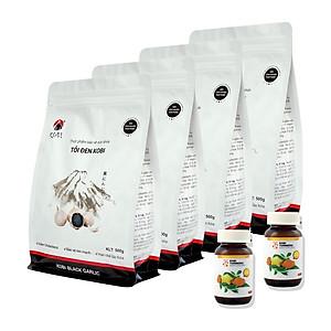 Hình đại diện sản phẩm Combo 4 Thực phẩm chức năng Tỏi Đen Kobi 500G Và 2 Hũ Kobi Turmeric (Nano Curcumin)