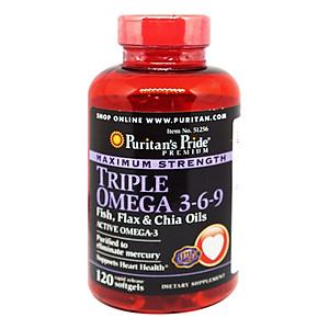 Hình đại diện sản phẩm Thực Phẩm Chức Năng - Viên Uống Omega 369 Đẹp Da Tăng Cường Hệ Miễn Dịch Premium Maximum Strength Triple Omega (120 Viên)