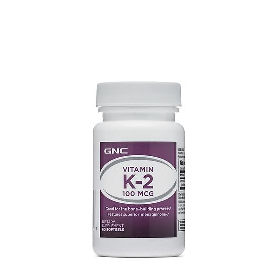 Hình đại diện sản phẩm Thực Phẩm Chức Năng Hỗ trợ tăng cường chức năng đông máu GNC VITAMIN K-2 (60 viên/Hộp)