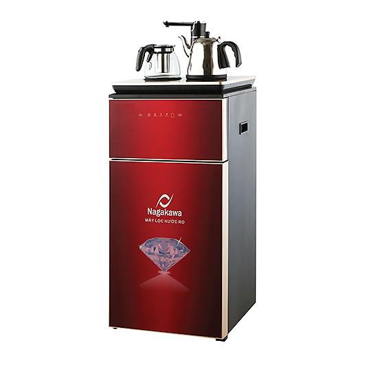 Máy lọc nước RO Nagakawa NAG0504 đen đỏ + bình giữ nhiệt + ấm đun