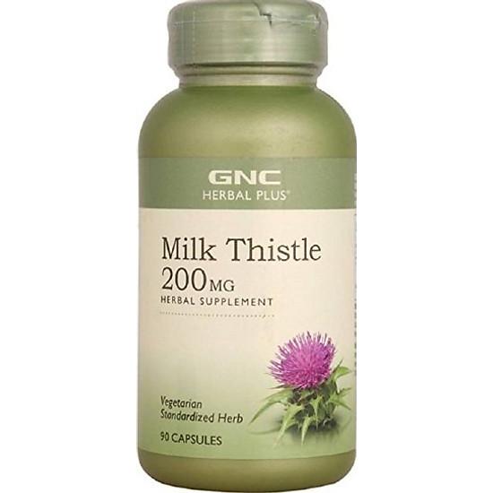 Hình đại diện sản phẩm Thực phẩm chức năng Tăng cường chức năng và bảo vệ tế bào gan GNC MILK THISTLE 200 MG chai 90 viên