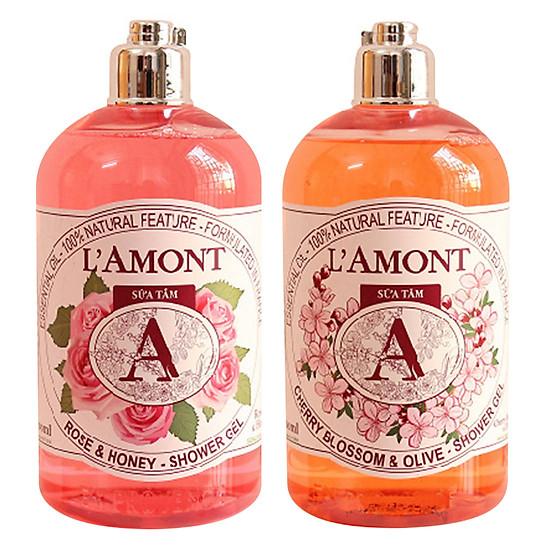 Bảng Giá Combo Sữa Tắm L'amont En Provence Cherry Blossom Shower Gel Hương Hoa Anh Đào + Hoa Hồng (500ml / Chai) Tại Tiki Trading