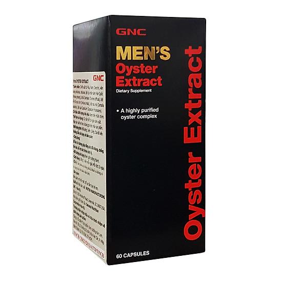 Hình đại diện sản phẩm Thực Phẩm Chức Năng Bổ sung kẽm từ Hàu, giúp tăng cường miễn dịch cho Nam giới GNC Men's Oyster Extract (60 viên/Hộp)