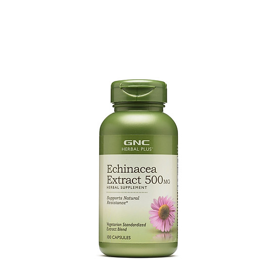 Hình đại diện sản phẩm Thực Phẩm Chức Năng Tăng sức đề kháng GNC ECHINACEA EXTRACT 500 MG chai 100 viên