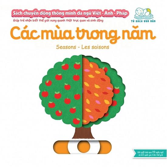 Sách Chuyển động thông minh - Các mùa trong năm – Seasons – Les saisons