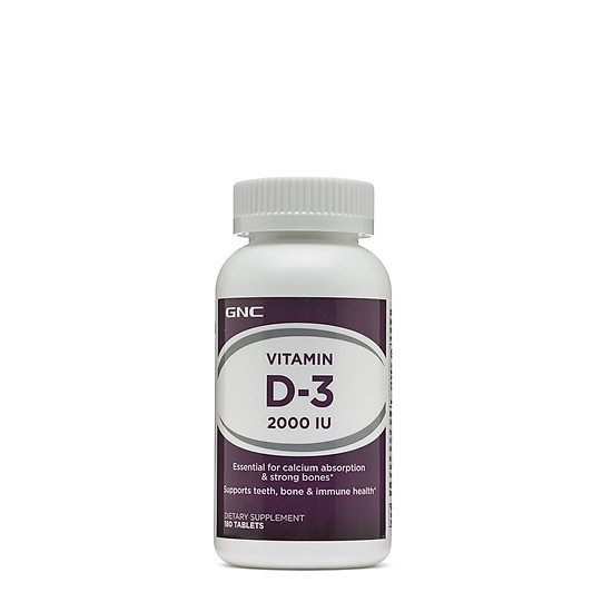 Hình đại diện sản phẩm Thực phẩm chức năng Bổ sung vitamin D3 cho người thiếu hụt dinh dưỡng GNC VITAMIN D-3 2000IU chai 180 viên