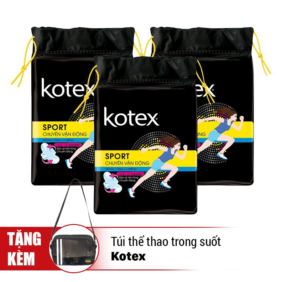 Combo Kotex Sporty Girl - Tặng Túi Thể Thao Trong Suốt