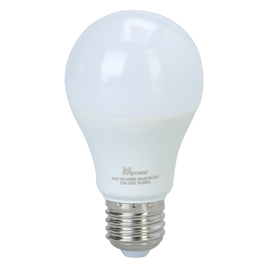 Đèn LED Bóng Tròn Mpower 5W - 6400K (5W) - Ánh Trắng