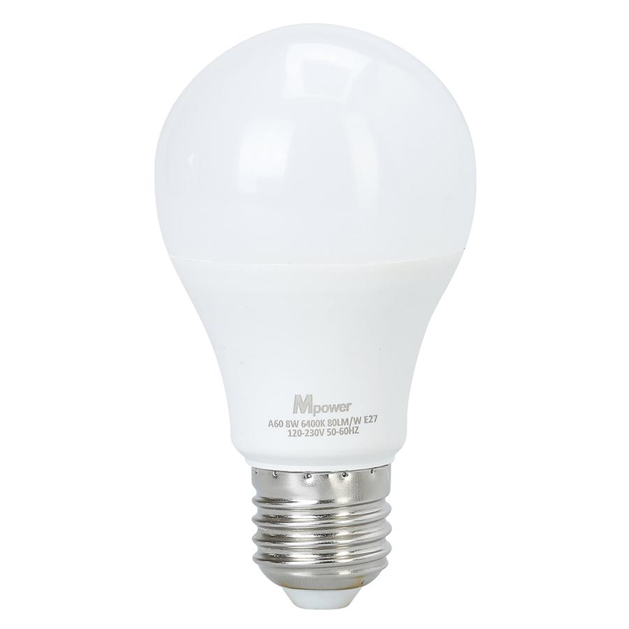 Đèn LED Bóng Tròn Mpower 8W - 6400K (8W)