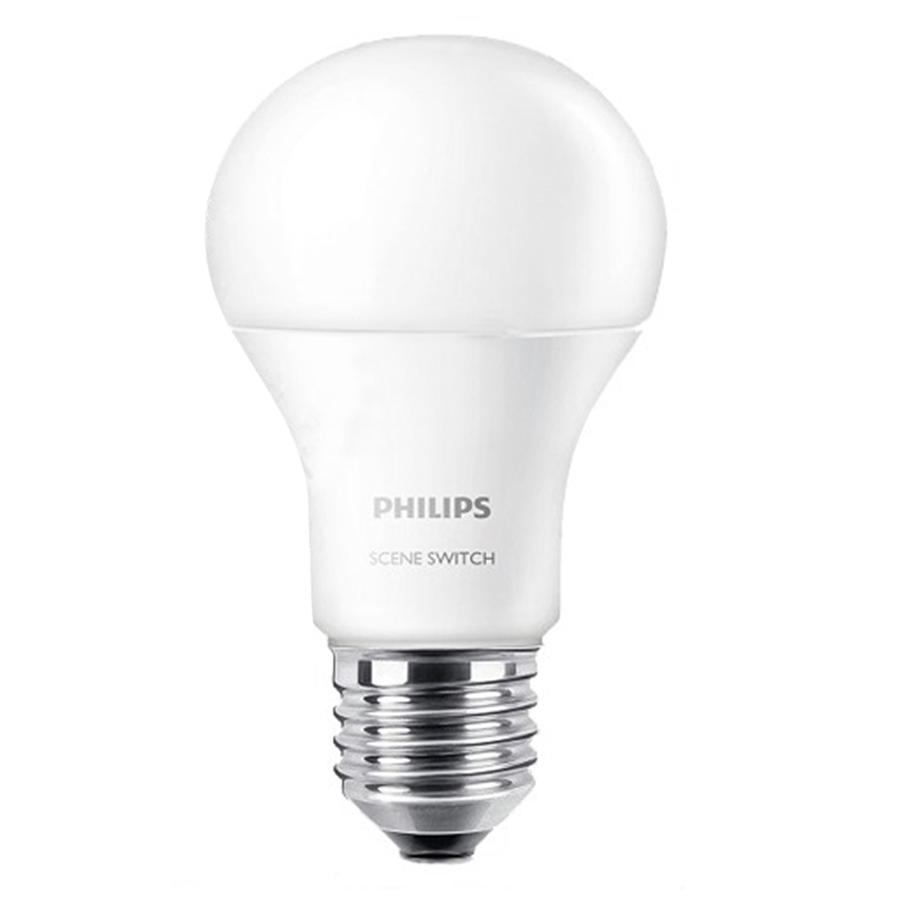 Bóng Đèn Philips Ledbulb Đổi Màu 9.5W E27 6500K/3000K A60