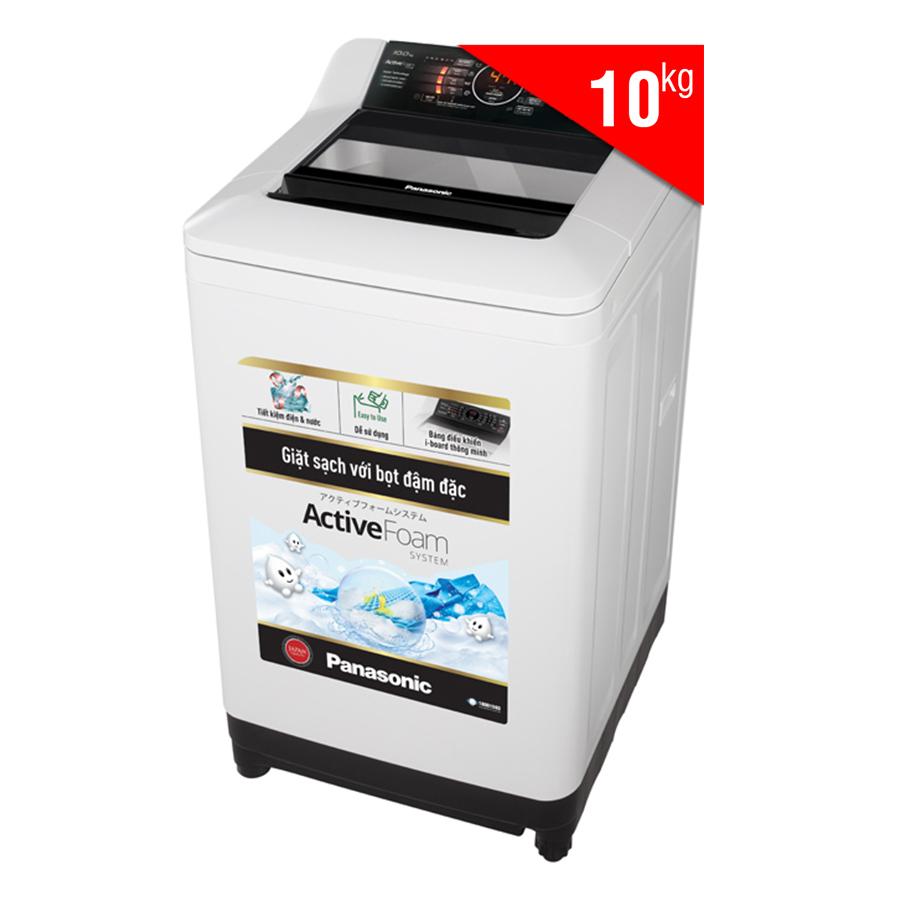 Máy Giặt Cửa Trên Panasonic NA-F100A4HRV (10kg) - Xám Nhạt