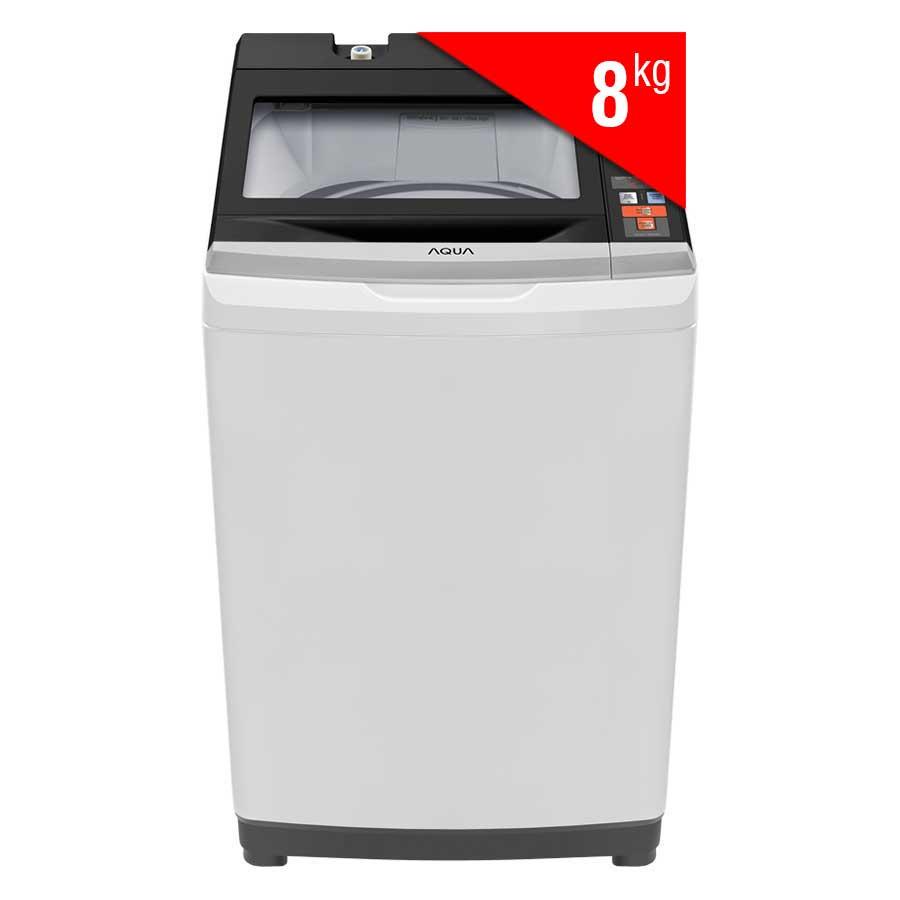 Máy Giặt Cửa Trên Aqua AQW-S80AT (8kg) - Xám Nhạt