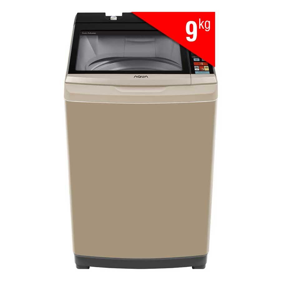 Máy Giặt Cửa Trên Inverter Aqua AQW-DW90AT-N (9Kg) - Vàng Kim