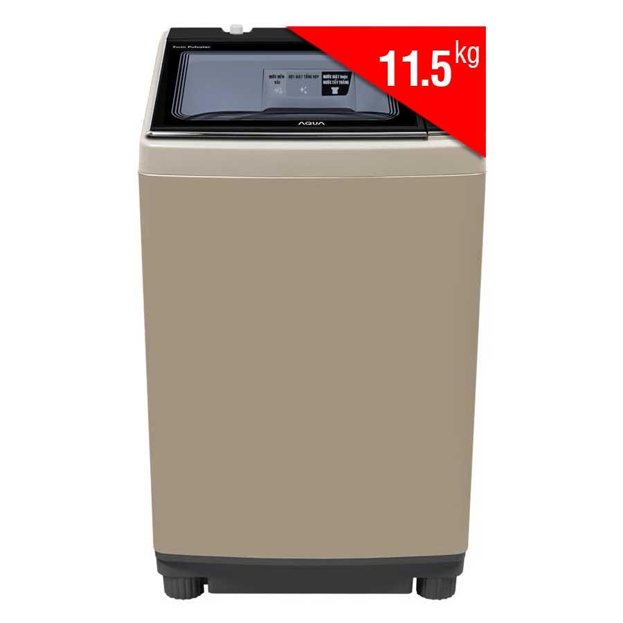 Máy Giặt Cửa Trên Inverter Aqua AQW-DW115AT-N (11.5Kg) - Vàng Kim