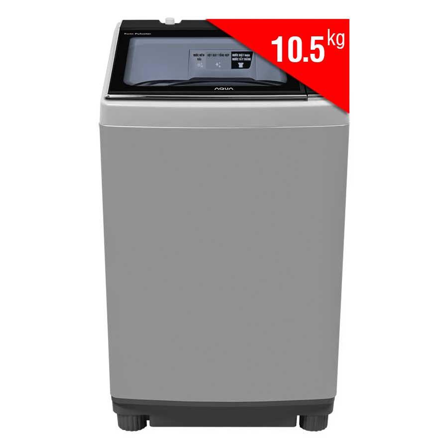 Máy Giặt Cửa Trên Inverter Aqua AQW-DW105AT-S (10.5Kg) - Bạc