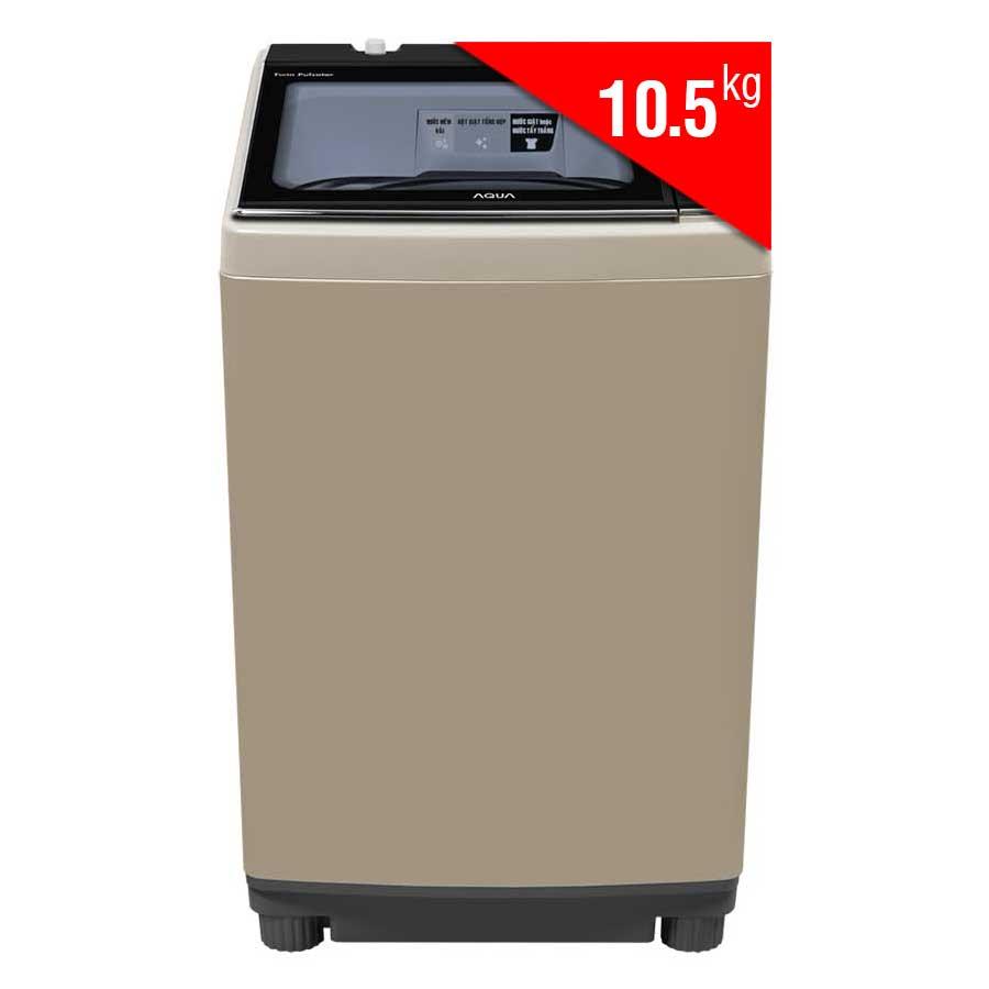 Máy Giặt Cửa Trên Inverter Aqua AQW-DW105AT-N (10.5Kg) - Vàng Kim