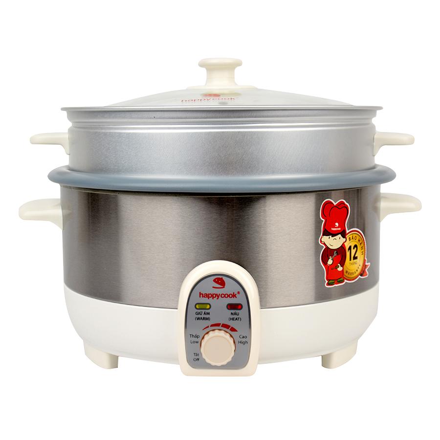 Nồi Lẩu Điện Có Xửng Happy Cook HCHP-350ST (3.5L)
