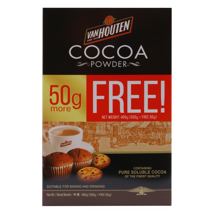 Bột Cacao VanHouten Tự Nhiên Không Đường (400g)