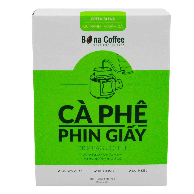 Cà Phê Phin Giấy Bona Coffee - Green Blend 75g