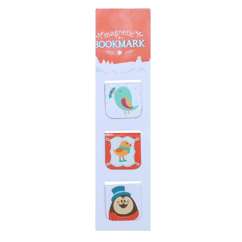 Bộ 3 Bookmark Nam Châm Kính Vạn Hoa - Merry Christmas