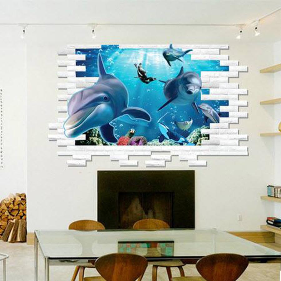 Decal Đại Dương 3D Lala Shop DC1041 - Mẫu 2 ( 60 x 90 cm)